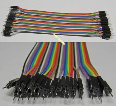 40 flexible Steckbrücken Drahtbrücken z.b. Arduino Steckboard Stecker - Stecker