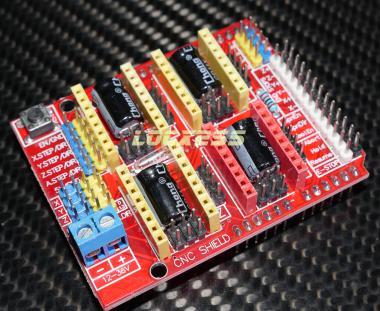 CNC Arduino Shield Expansion Board für 4 x A4988 Treiber (ohne Treiber)