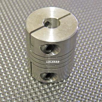 Wellenkupplung Alu 6,35mm auf 5mm, 3D Drucker Mendel RepRap CNC