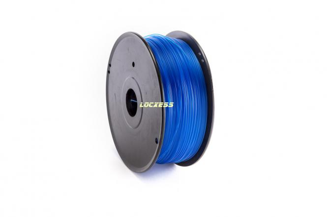 ABS Filament 1,75 mm, 1kg, blau-transparent, 3D-Drucker RepRap Prusa Makerbot Mendel