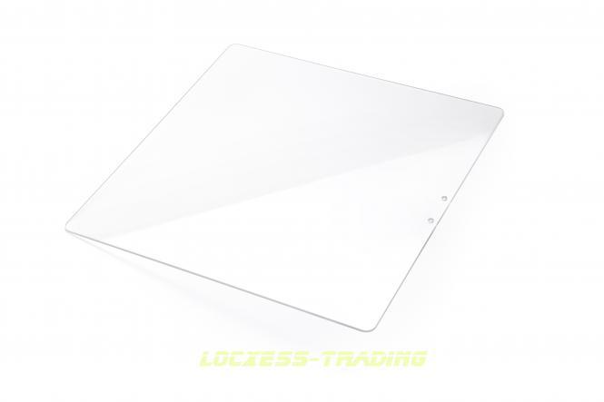 Glasplatte klar 350 x 350 x 3 mm, hitzebeständig