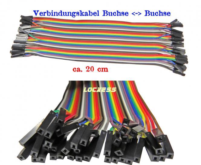40 flexible Steckbrücken Drahtbrücken z.b. Arduino Steckboard Buchse - Buchse