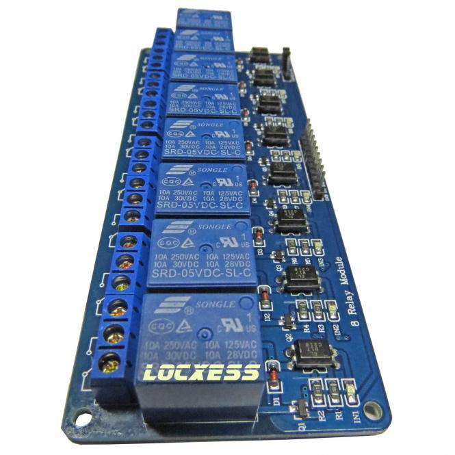 8 Kanal 5V Relay Relais Modul  Bascom  Arduino  Raspberry Pi Optokoppler 1 x UM